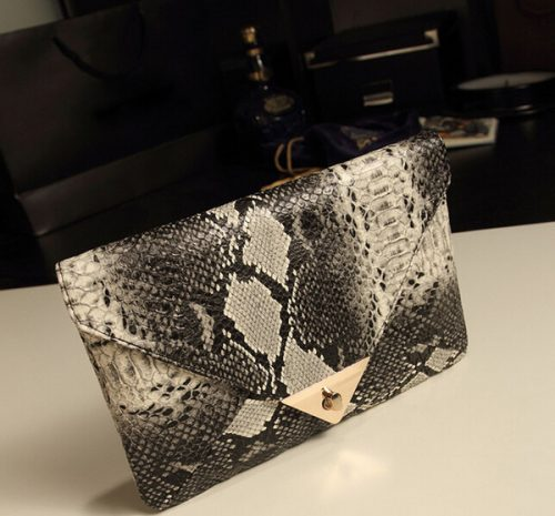 2015 Fashion Snake Skin Envelope Bag Day Clutch Purse Evening Bags Ladies Fashion Bags Shoulder Bag-DW129
