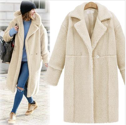 2016 Best Sellers European Winter New Pattern Suit-dress Cashmere Sleeve Long Fund Overcoat Loose Coat Women Womens Coats For