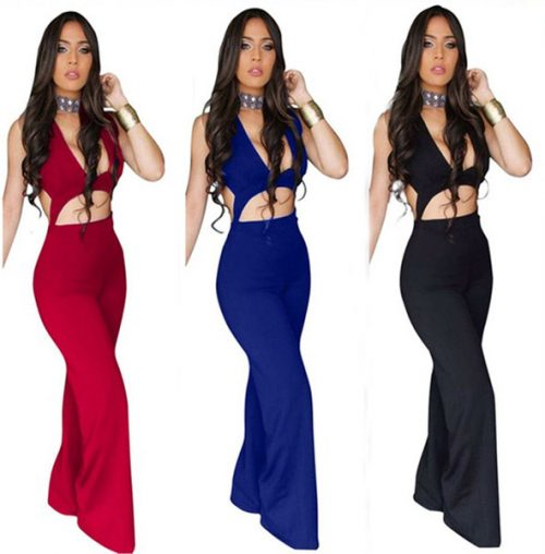 2017 New arrive high fashion full length jumpsuit sexy strapless club wear overalls for women S3133 17413