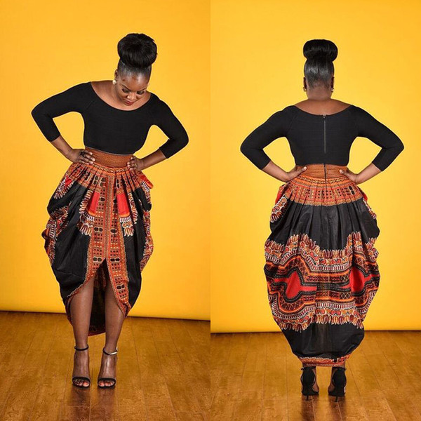 2017 spring African Dress for women Traditional african clothing African National Printed Big Swing Skirts Ankle-length Popular Design Bazin