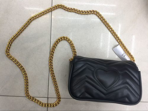 2018 European and American new women's bag Fashionable chain small bag Single shoulder oblique bag free shipping