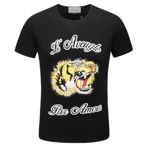 2018 New Arrival T Shirts For Mens Cartoon Tiger Printed T-Shirt Fashion Breathable Male Slim Sport Zhongou