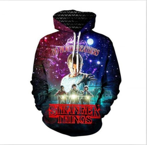2018 New fashion Men Women 3D Print Pullover Handsome Stranger Things Hoody Tracksuits Hooded Male Casual Sweatshirt Hoodies Coat LMS0333