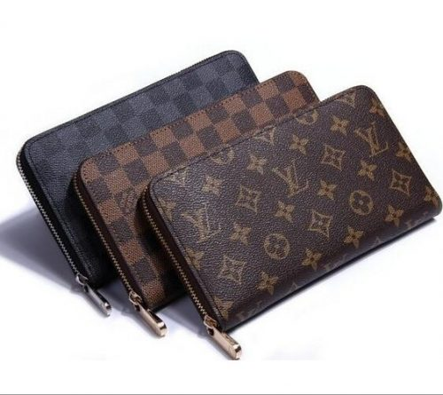 Dexbxuli new products men's long wallet youth multi-card ultra-thin soft leather jacket in the back of the bag spot