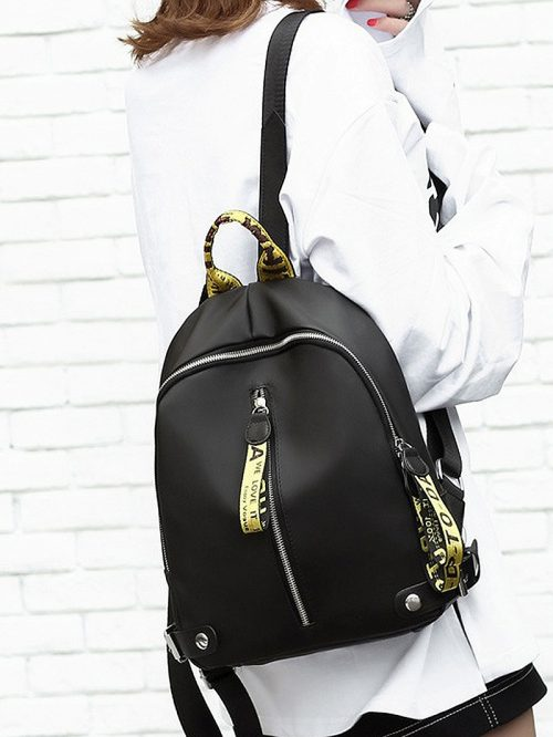 Gold Zip Detail Backpack