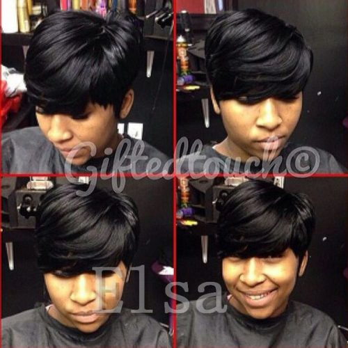 Grade 6A human hair glueless cap wig Pixie cut Brazilian virgin hair wig for fashion black women