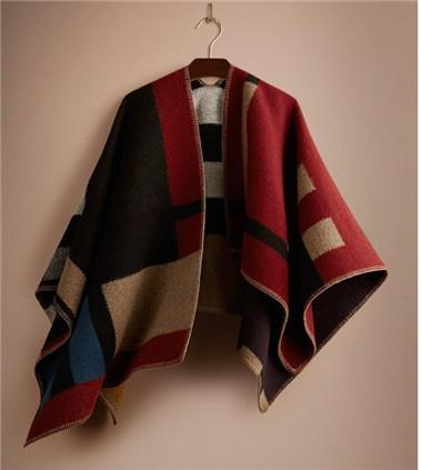 High-end fashion women, wool autumn/winter new style, B home show style of color wool plaid scarf cape,