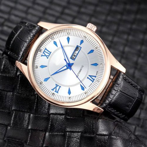 New Classic waterproof Top brand men Luxury Wristwatch Day Date Fashion Quartz Watches Leather strap Watch for mens boy male water resistand