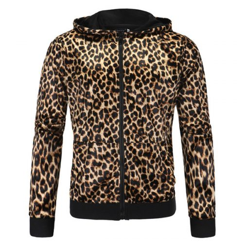 New High Quality Sexy Men Women Clothing Leopard Hoodies Spring Autumn Tops Male Female Fashionable Sweatshirts