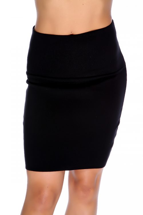 Sexy Black Bold High Waisted Pencil Skirt