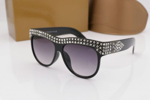 luxury Selling sunglasses 0147 Shiny diamonds design frame popular protection sunglasses top quality fashion summer style for women