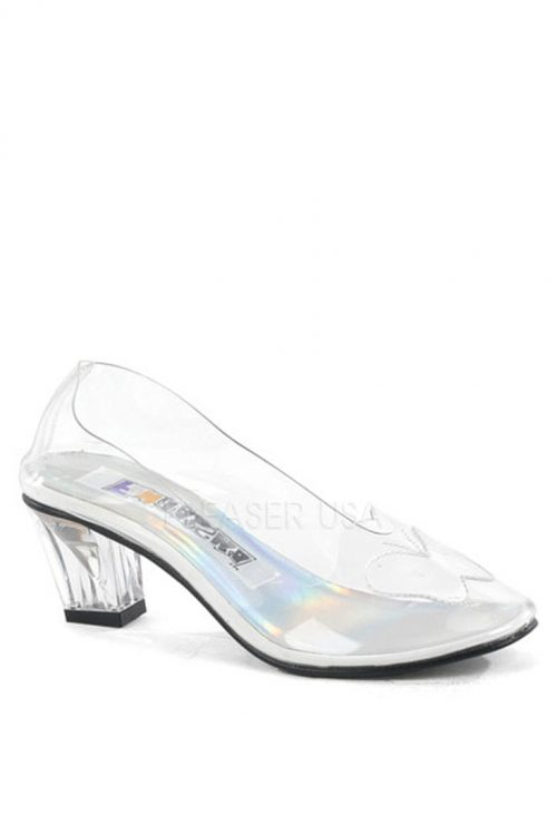 Clear Butterfly Patch Pump Heels Lucite