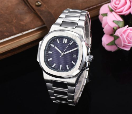 Luxury men women watch Sky moon Nautilus Automatic quartz all Stainless Steel case Blue Dial watches male wristwatch Free Shipping