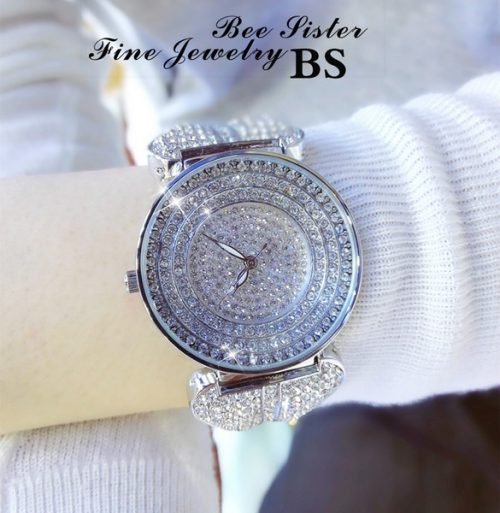 Women's Fashion chain table full drilled women's quartz Watches Christmas presents valentine's day gifts