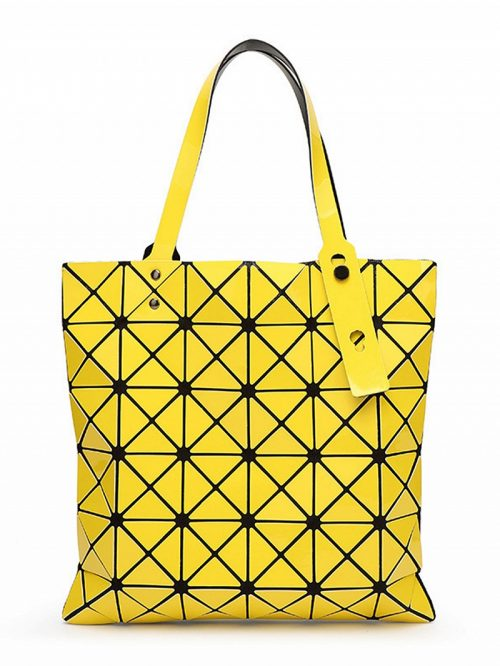 Yellow Triangle Splicing Chic Women Shoulder Bag
