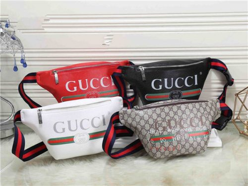 4-color fashion letter stitching brand long pillow-shaped waist bag Messenger bag men and women personality running travel pockets