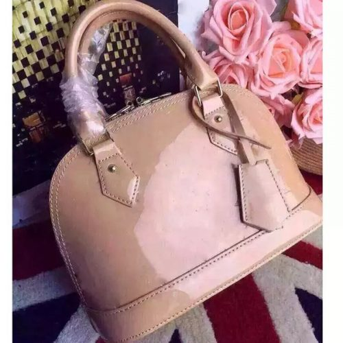 Dropshipping ALMA BB shell bag women patent leather flower Embossed shoulder bags with lock crossbody bag handbags.