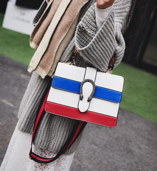 HOT! Women messenger Bag 2018 new Women Handbag Double snake head Shoulder bag cross body bag Tote Bags Free shipping