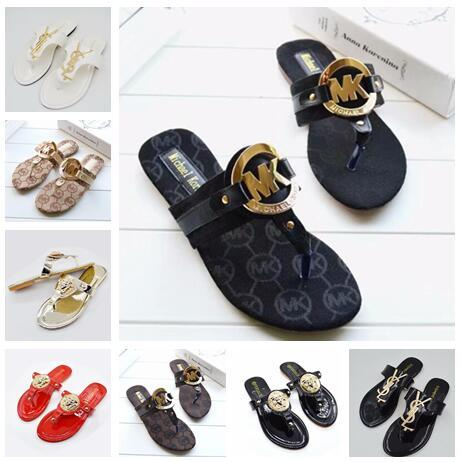 New Fashion Women's Flats Casual sandals Beach slippers Shoes Brand Ladies Sandals flip-flops G793