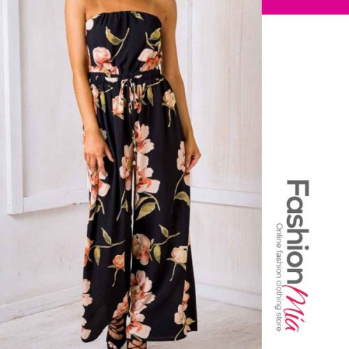 Printed Wide-Leg Casual Pants For Women